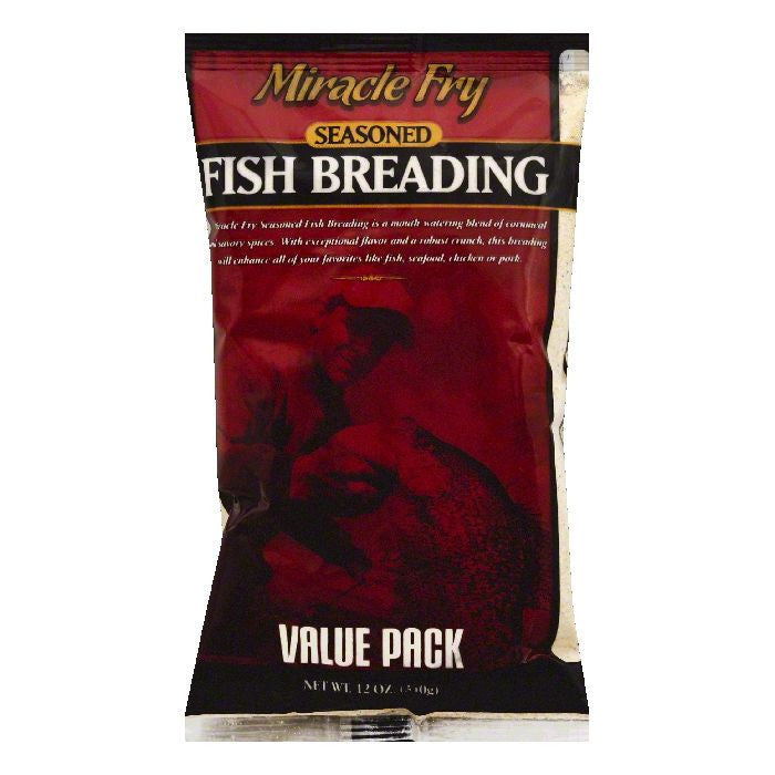 Miracle Fry Value Pack Seasoned Fish Breading, 12 OZ (Pack of 12)