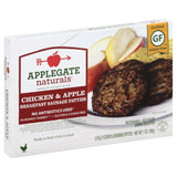 Applegate Chicken & Apple Breakfast Sausage Patties, 7 Oz (Pack of 12)