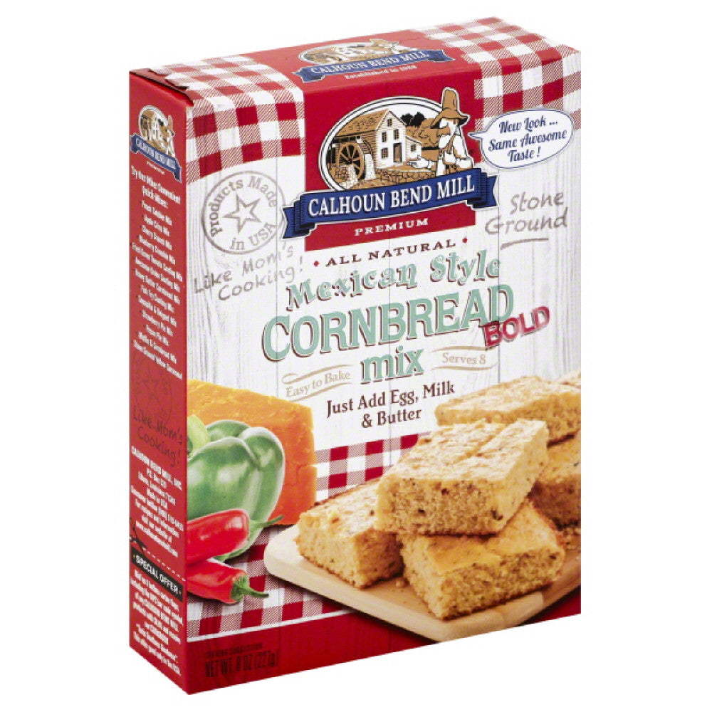 Calhoun Bend Bold Mexican Style Cornbread Mix, 8 Oz (Pack of 6)