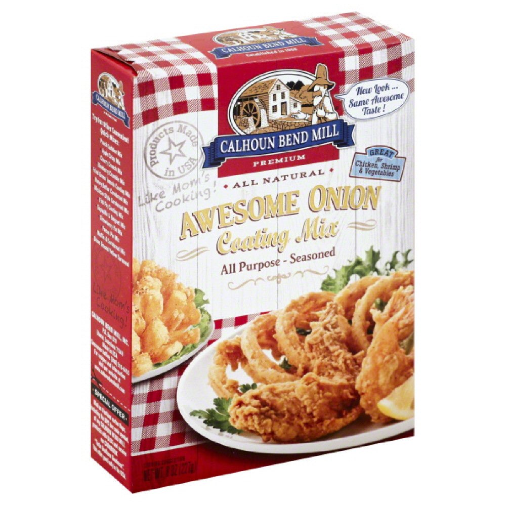 Calhoun Bend Awesome Onion Coating Mix, 8 Oz (Pack of 6)