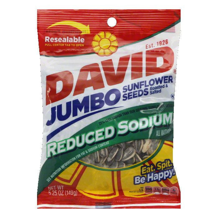 David's Sunflower Seeds Red Sod, 5.25 OZ (Pack of 12)