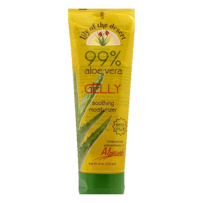Lily of the Desert 99% Aloe Vera Gelly Soothing Moisturizer, 8 FO
