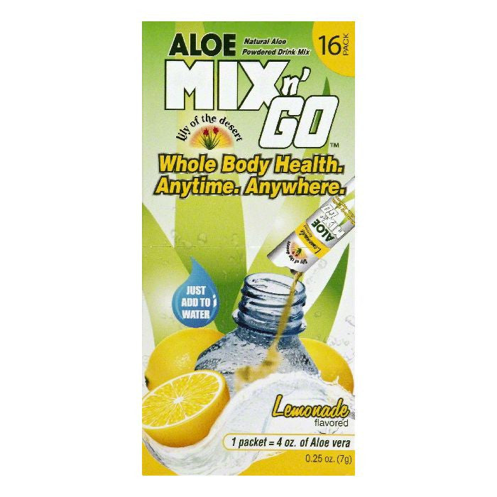 Lily of the Desert Lemonade Flavored Powdered Aloe Drink Mix, 16 ea