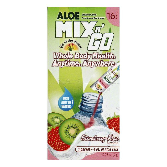 Lily of the Desert Strawberry-Kiwi Flavored Aloe Powdered Drink Mix, 16 ea