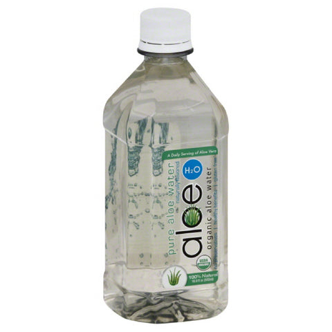 Aloe H2O Pure Organic Aloe Water, 16.9 Oz (Pack of 12)