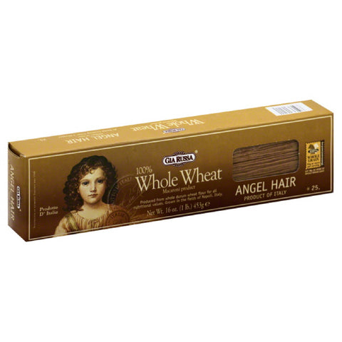 Gia Russa 100% Whole Wheat Angel Hair, 16 Oz (Pack of 20)