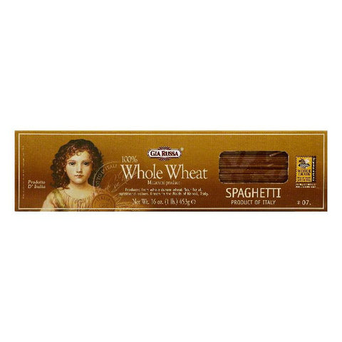 Gia Russa 100% Whole Wheat Spaghetti, 16 OZ (Pack of 20)