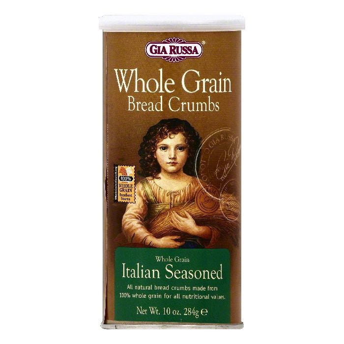 Gia Russa Italian Seasoned Whole Grain Bread Crumbs, 10 OZ (Pack of 6)