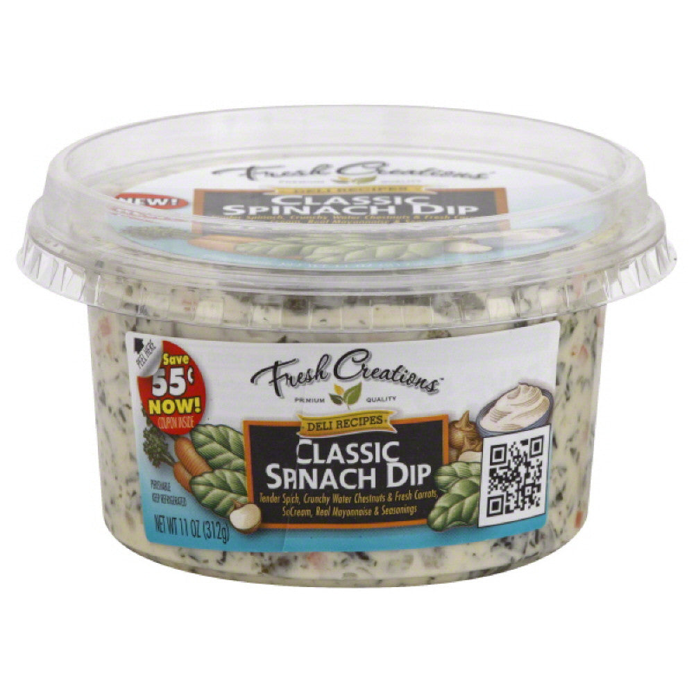 Fresh Creations Classic Spinach Dip, 11 Oz (Pack of 6)