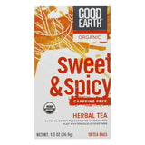 Good Earth Organic Sweet & Spicy Caffeine Free Herbal Tea 18 ct  (Pack of 6)