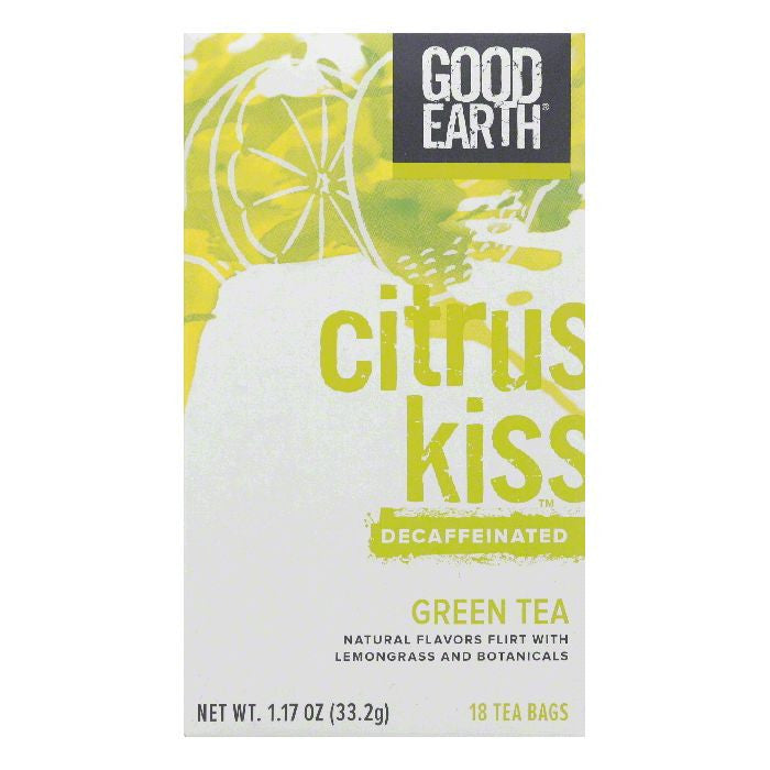 Good Earth Citrus Kiss Decaffeinated Green Tea 18 ct  (Pack of 6)