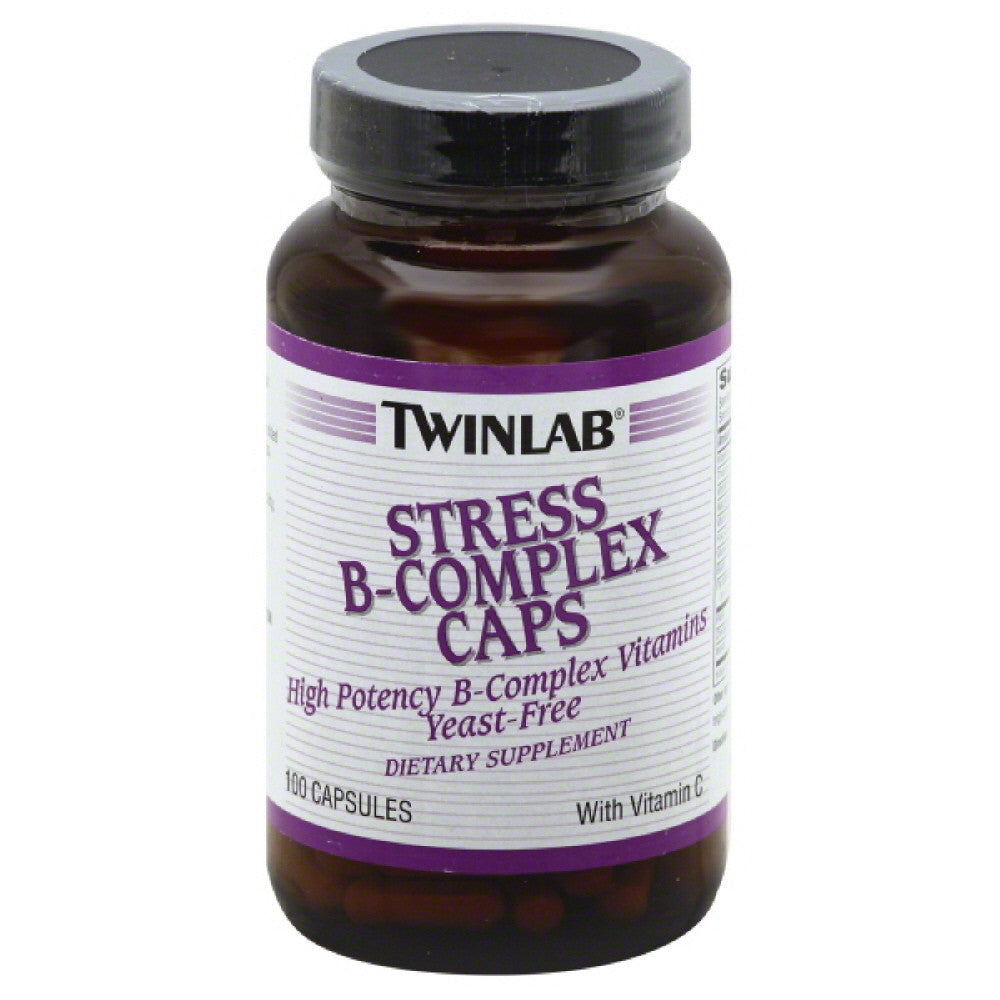 TwinLab Capsules High Potency Caps Stress B-Complex, 100 Cp