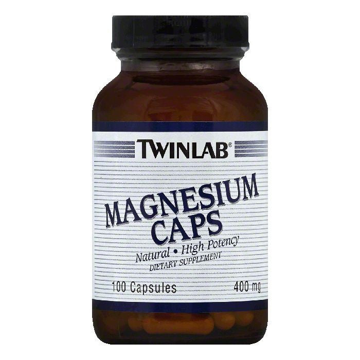 TwinLab Capsules 400 mg High Potency Magnesium Caps, 100 ea