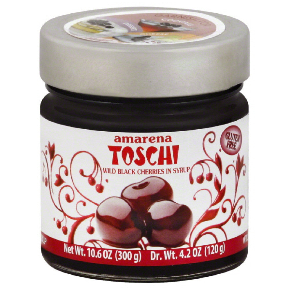Amarena Toschi Wild Black Cherries in Syrup, 10.6 Oz (Pack of 6)