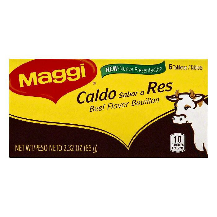 Maggi Tablets Beef Flavor Bouillon, 6 ea (Pack of 24)