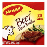 Maggi Beef Flavor Bouillon Cubes, 20 ea (Pack of 12)