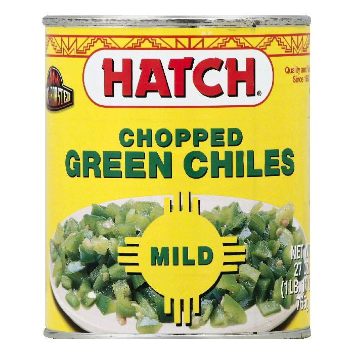 Hatch Mild Fire Roasted Chopped Green Chiles, 27 OZ (Pack of 6)