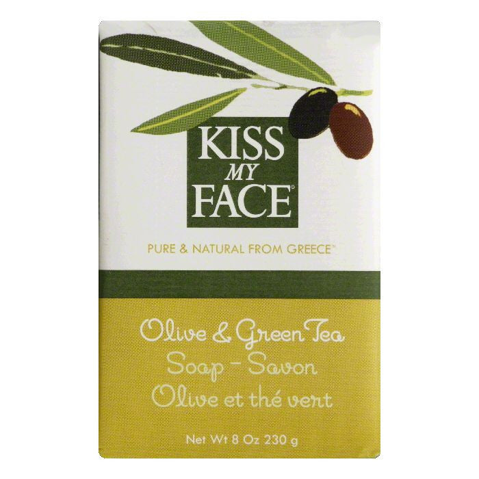 Kiss My Face Olive & Green Tea Soap, 8 OZ