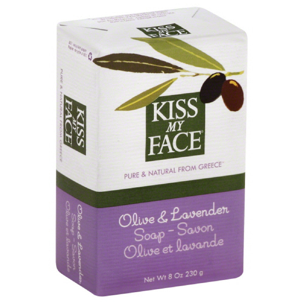 Kiss My Face Olive & Lavender Soap, 8 Oz