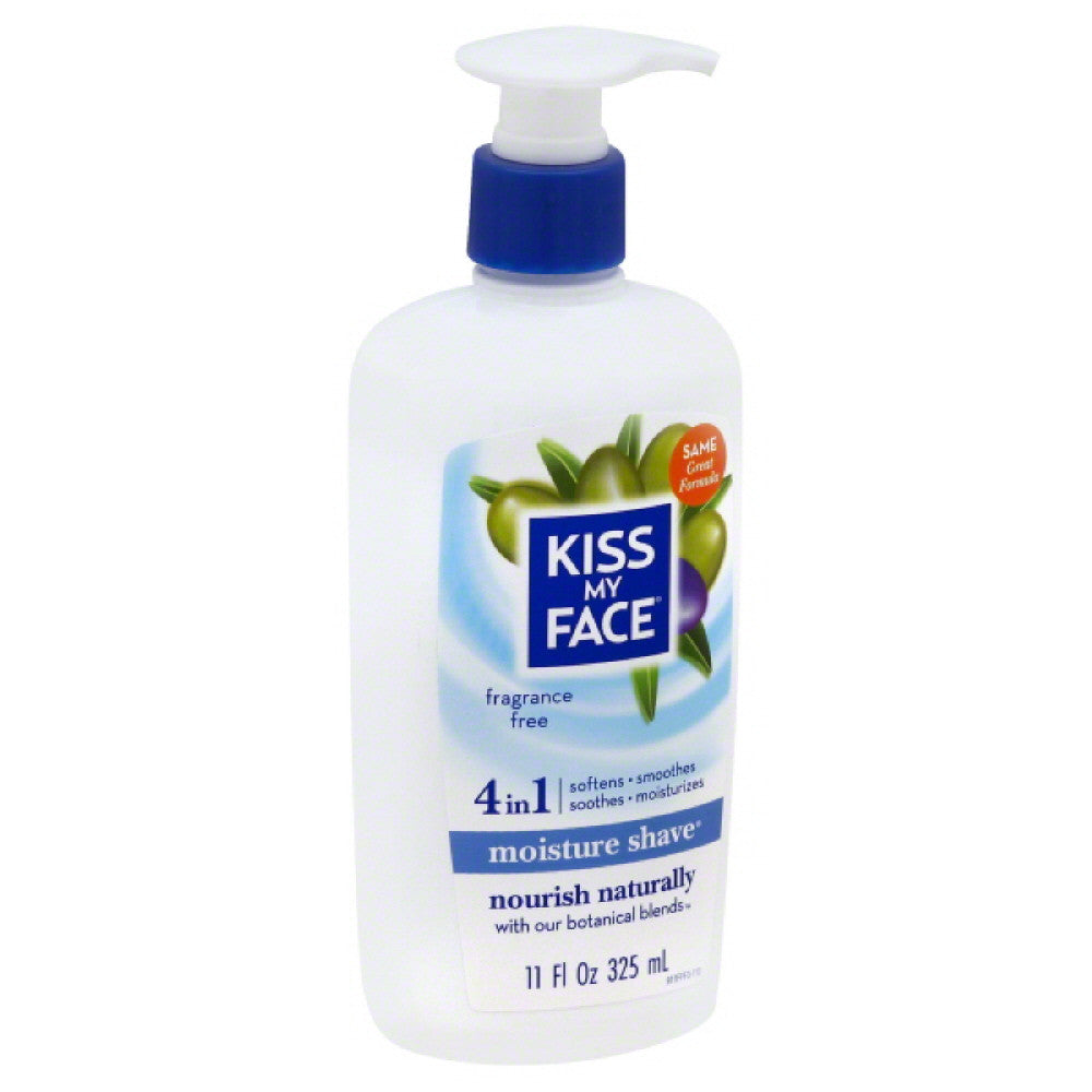 Kiss My Face Fragrance Free 4 in 1 Moisture Shave, 11 Oz