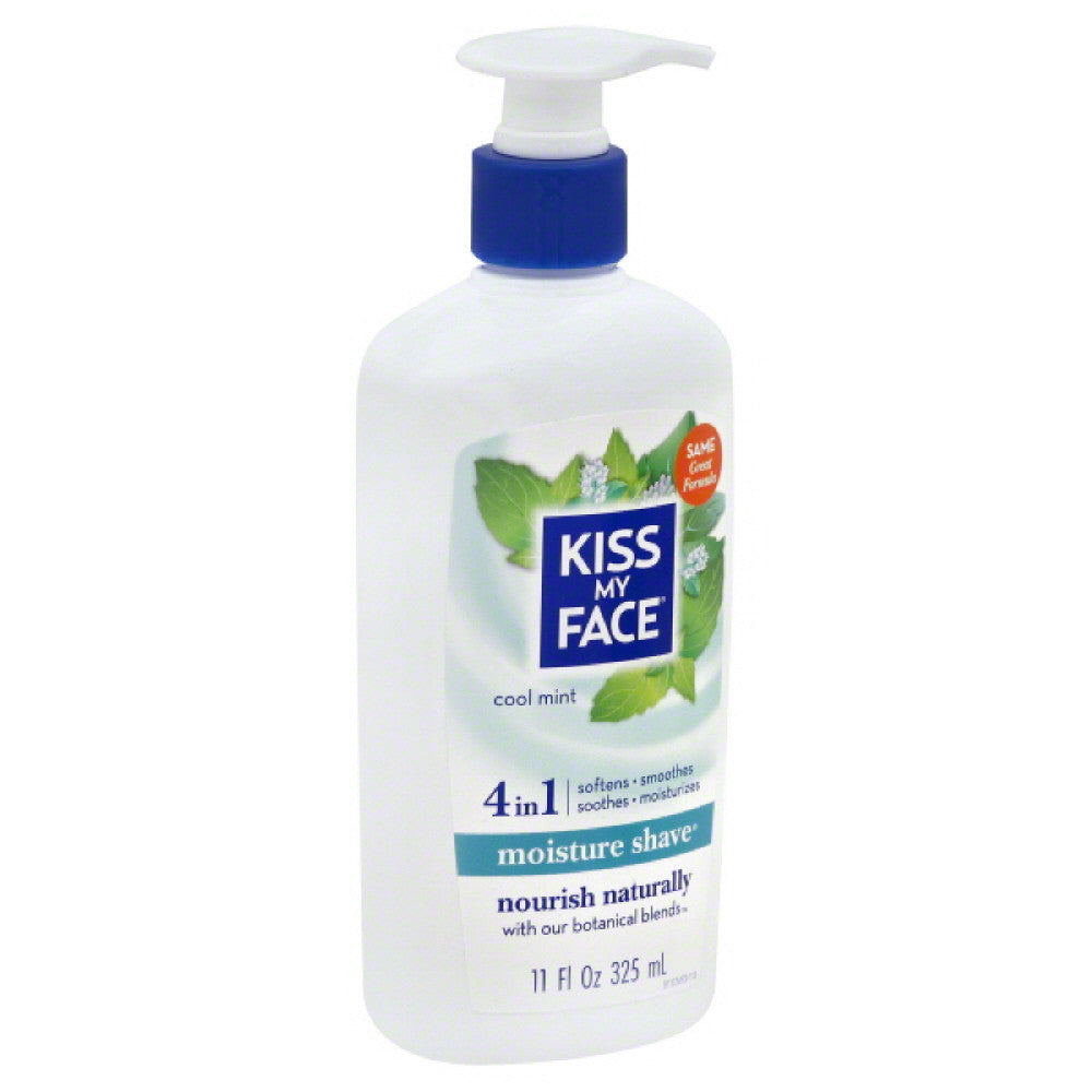 Kiss My Face Cool Mint Moisture Shave, 11 Oz