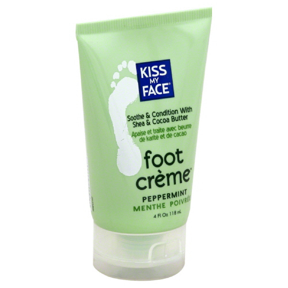 Kiss My Face Peppermint Foot Creme, 4 Oz
