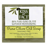 Kiss My Face Fragrance Free Pure Olive Oil Soap, 12 Oz