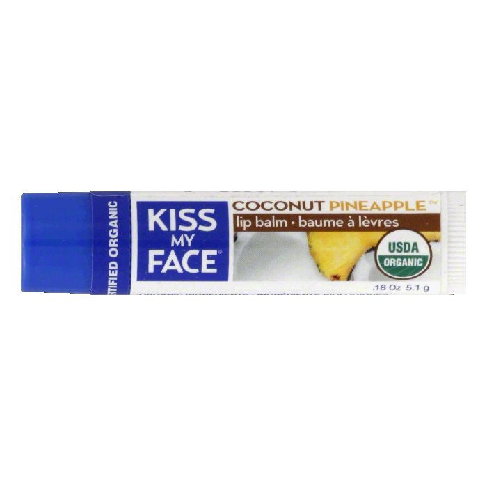 Kiss My Face Coconut Pineapple Lip Balm, 0.18 Oz (Pack of 24)