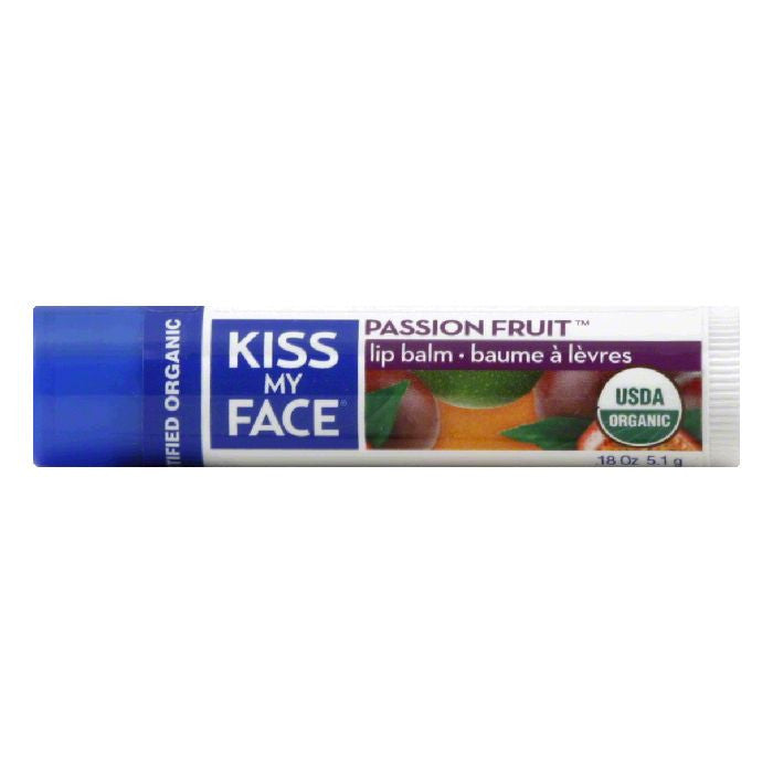 Kiss My Face Lip Balm Passion Fruit, 0.18 OZ (Pack of 24)