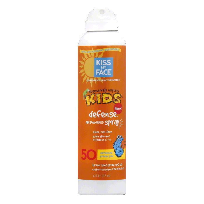 Kiss My Face Defense Air Powered Spray Continuous Spray Sunscreen, 6 Oz