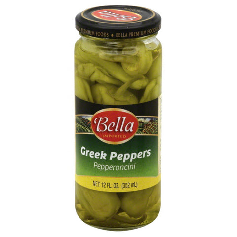 Bella Pepperoncini Greek Peppers, 12 Oz (Pack of 12)