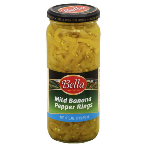 Bella Rings Mild Banana Peppers, 16 Oz (Pack of 6)