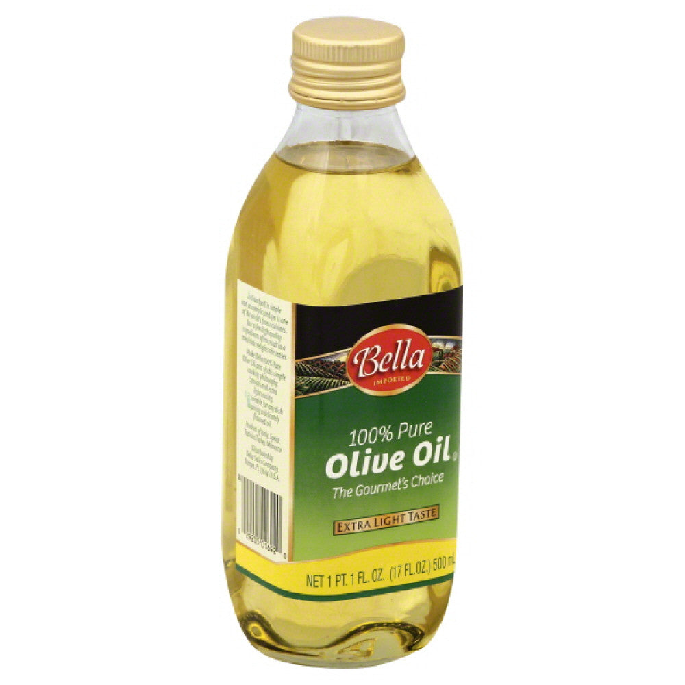 Bella 100% Pure Olive Oil, 17 Oz (Pack of 12)