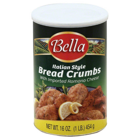 Bella Italian Style Bread Crumbs with Imported Romano Cheese, 16 Oz (Pack of 12)