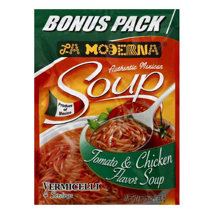 La Moderna Tomato & Chicken Flavor Soup Vermicelli, 3.5 OZ (Pack of 12)