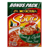 La Moderna Bonus Pack Tomato & Chicken Flavor Soup, 3.5 OZ (Pack of 12)