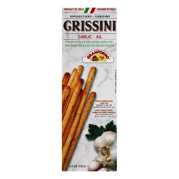 Grissini Garlic Breadsticks, 4.4 OZ (Pack of 12)
