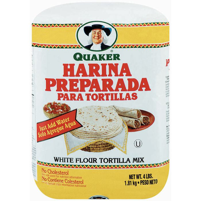 Quaker Harina Preparada Para Tortillas Tortilla Mix 4 Lb Bag (Pack of 8)