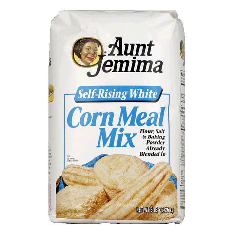 Aunt Jemima White Corn Meal Mix, 5 LB (Pack of 8)