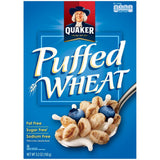 Quaker Puffed Wheat Cereal, 5.2 Oz  (Pack of 10)