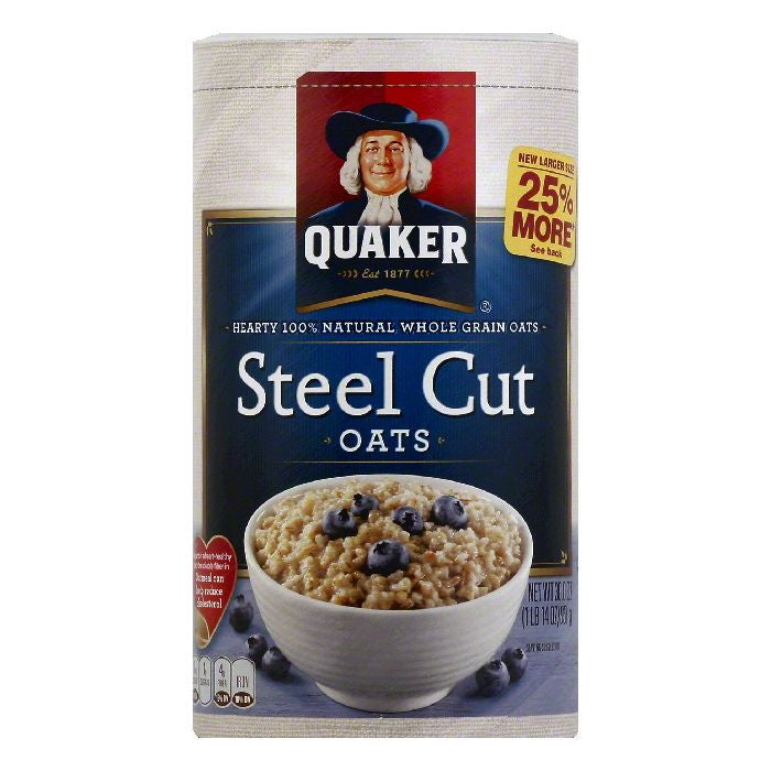 Quaker Steel Cut Oats, 30 OZ (Pack of 12)