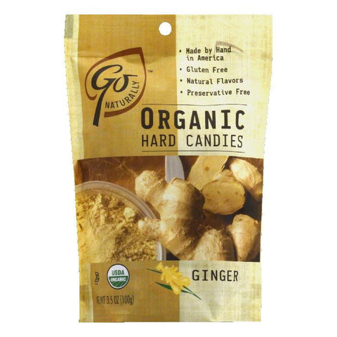 Go Naturally Gluten Free Organic Ginger Hard Candy, 3.5 OZ (Pack of 6)
