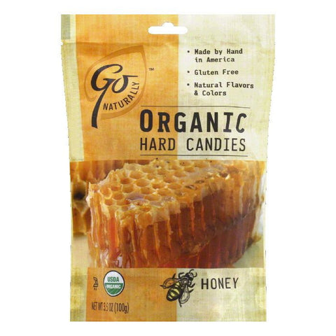 Go Naturally Gluten Free Organic Honey Hard Candy, 3.5 OZ (Pack of 6)