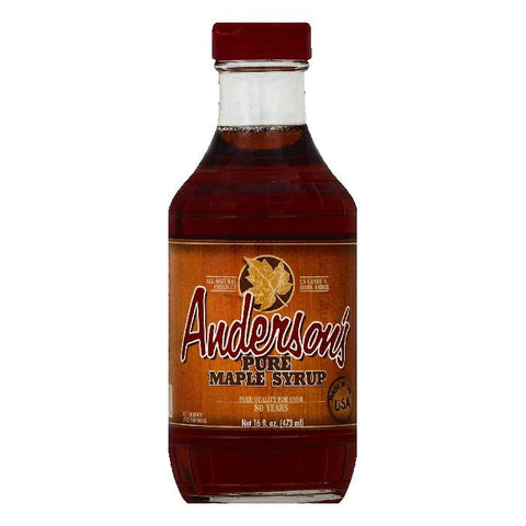 Andersons Pure Maple Syrup, 16 OZ (Pack of 6)
