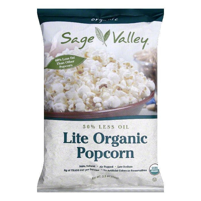 Sage Valley Popcorn 50% Less Oil, 3.5 OZ (Pack of 12)