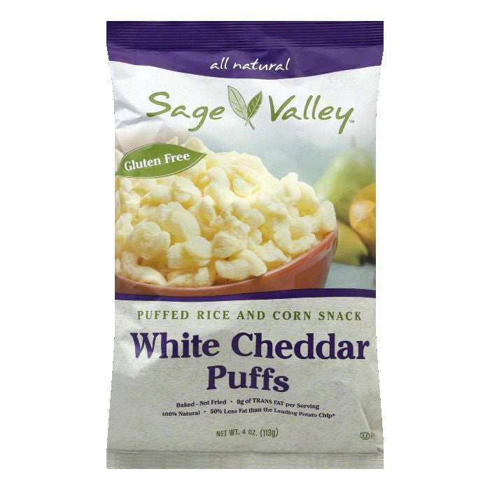 Sage Valley White Cheddar Puff, 4 OZ (Pack of 12)