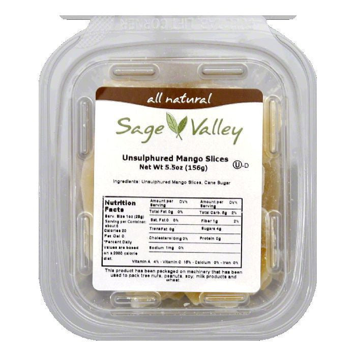 Sage Valley Fruit mango slc losgr uns, 5.5 OZ (Pack of 6)