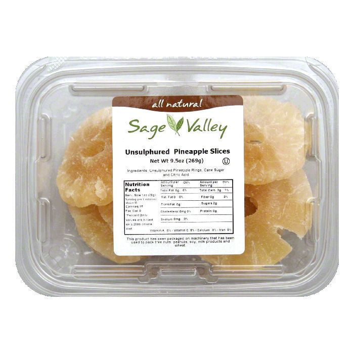 Sage Valley Fruit pnapl slc losgr uns, 9.5 OZ (Pack of 6)