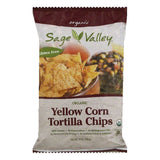 Sage Valley Yellow Corn Tortilla Chip, 14 OZ (Pack of 12)