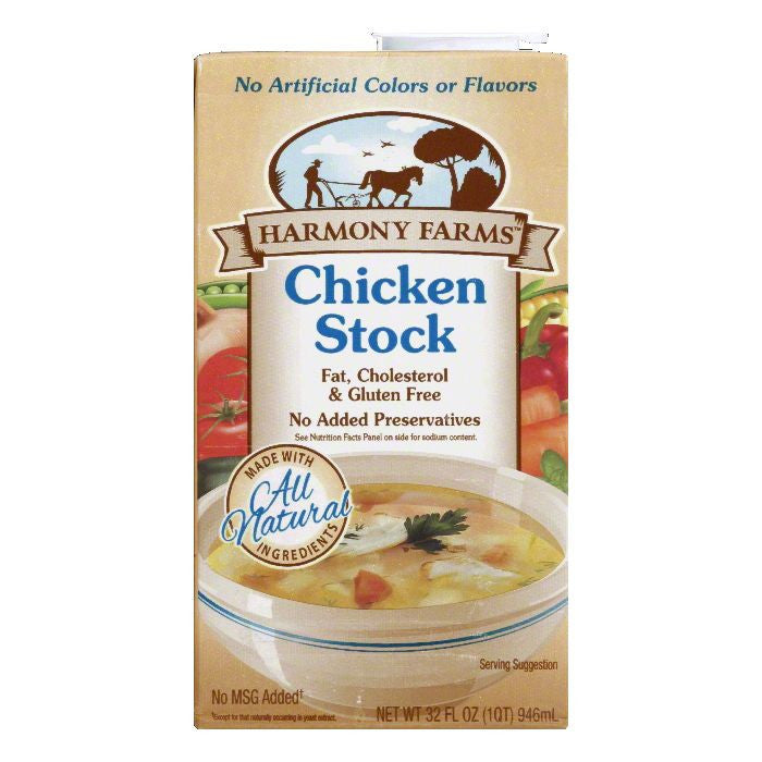 Harmony Farms Chicken Stock, 32 FO (Pack of 12)
